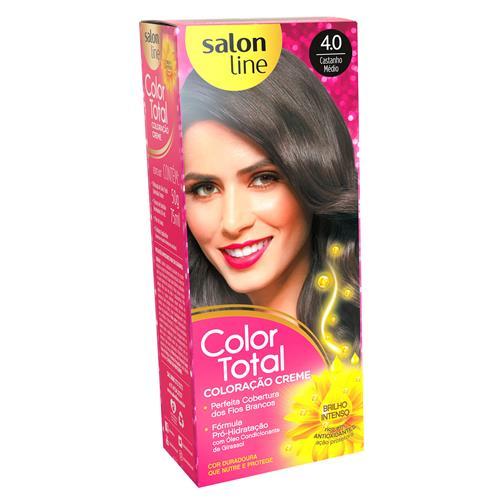 KIT COLOR TOTAL SALON LINE - 4.0 CASTANHO MEDIO