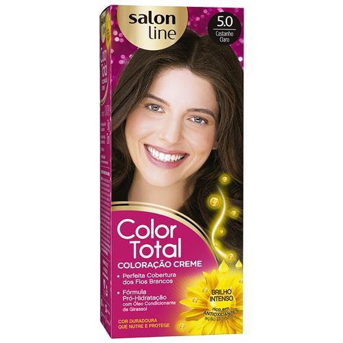 KIT COLOR TOTAL SALON LINE - 5.0 CASTANHO CLARO